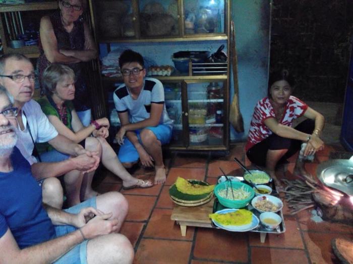 La cena al homestay jardine du mekong